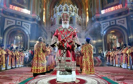 Easter in St Petersburg, Russia